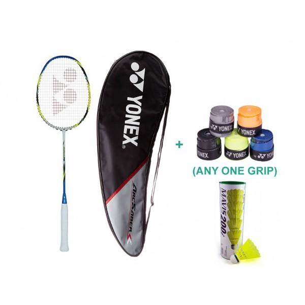 Yonex Arcsaber FD Racquet Set with One Grip and Shuttlecock