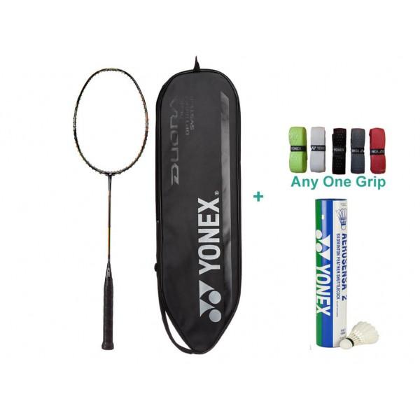 Yonex Duora 10 Badminton Set With Grip a...