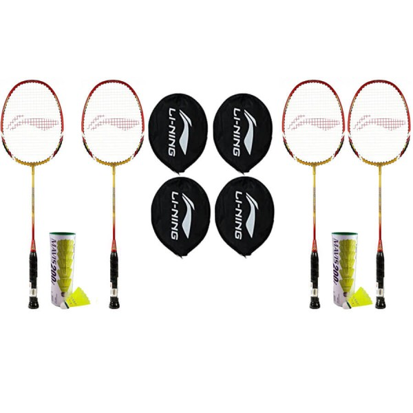 Li Ning Smash XP 90-II Racket Combo Doubles Game