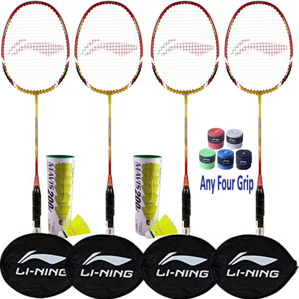 Li Ning Smash XP 90-II Racket Set for Do...