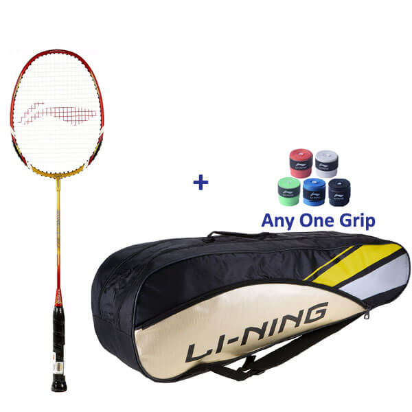 Li Ning Smash XP 90-II Badminton Racket with Kitbag