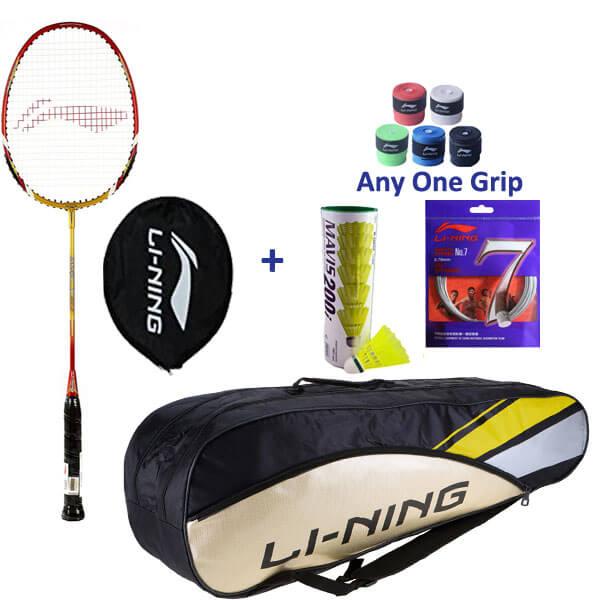 Li Ning Smash XP 90-II Single Player Complete Badminton Set