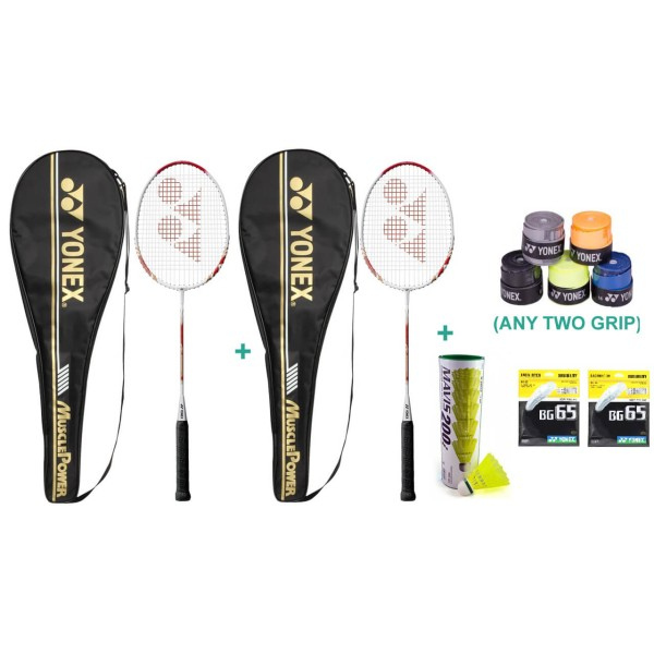 Yonex Muscle Power 700 Racket Set with T...