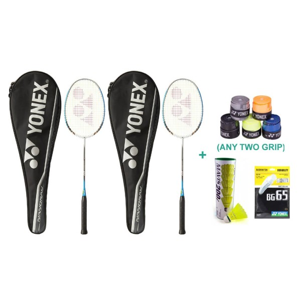Yonex Nanoray D1 Badminton Racket Set wi...