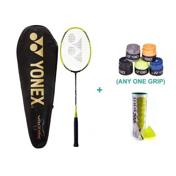 Yonex Voltric 2 DG Racket with Yonex Bad...