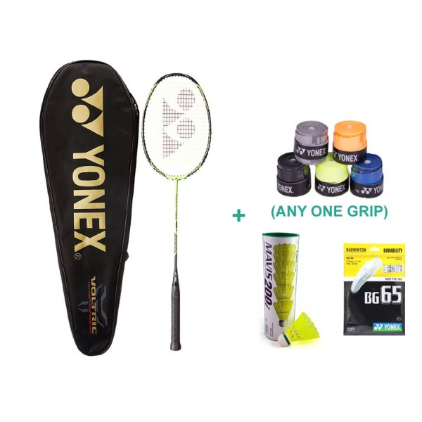 Yonex Voltric 7 DG Racket Combo With Badminton Grip and Racket String
