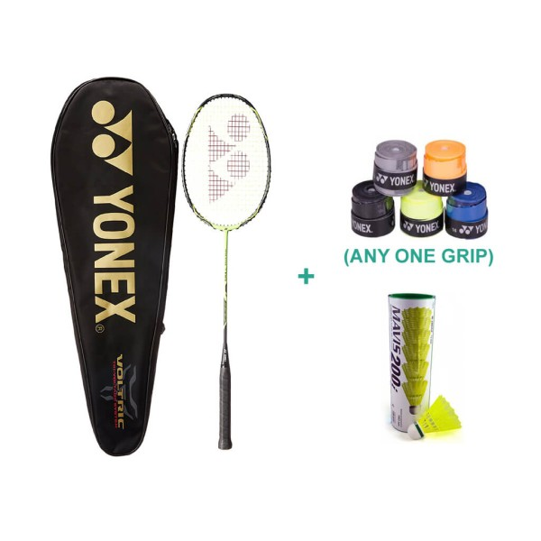 Yonex Voltric 7 DG Badminton Combo With Grip and Shuttlecock