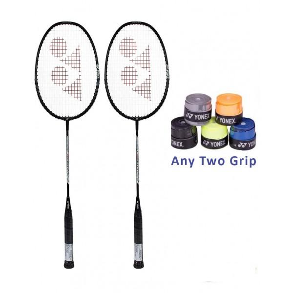 Zr 100 Strung Badminton Racquet Set with...