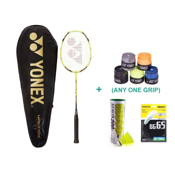 Yonex Voltric 8 E Tune Racket Set with B...