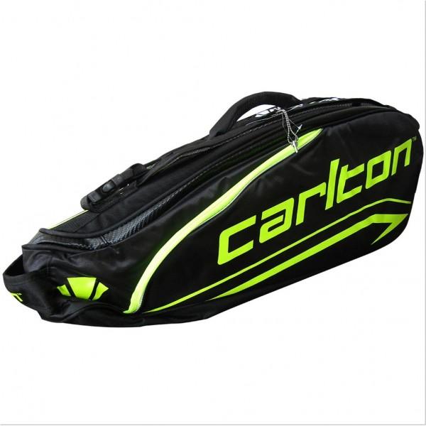 Carlton Kinesis Tour 2 Compartment Badminton KitBag 1802 Black Green
