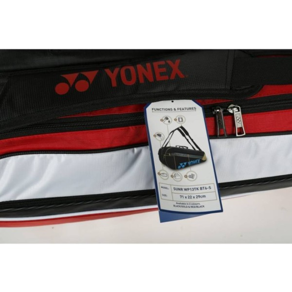 Yonex SUNR WP13 TK BT6 Badminton Kit Bag Red