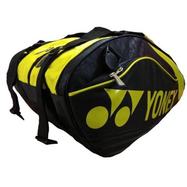 YONEX SUNR 9629 TG BT9 SR Racket Kit Bag Black Yellow