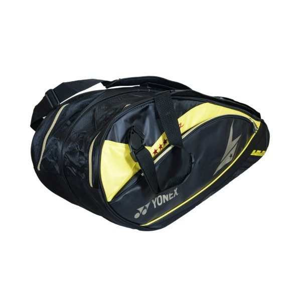 YONEX SUNR 02 LDTG BT6 Yellow Black Badminton Kit Bag