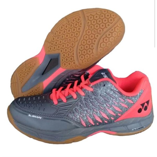Yonex Court ACE Badminton Shoes Grey Red