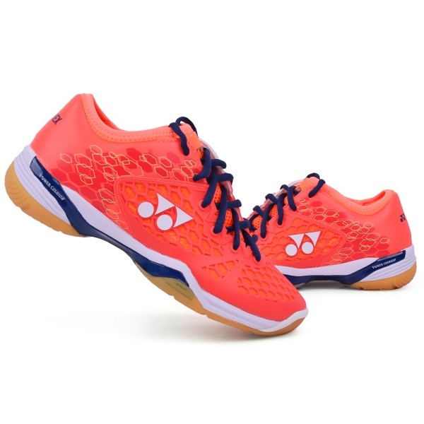 YONEX SHB 03 Z Power Cushion Coral Red Badminton Shoes