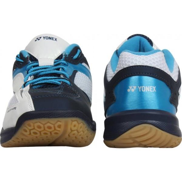 YONEX SHB 35 EX Badminton Shoes White Blue