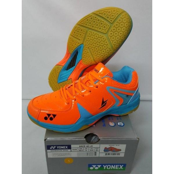 Yonex SRCR 40 LD Badminton Shoes Orange & Blue