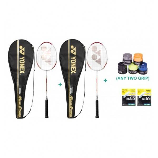 Yonex Muscle Power 700 Complete Set With Two Grip and Two String