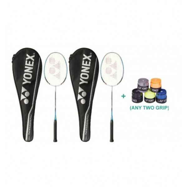 Yonex Nanoray D1 Raquet Set With Two Ove...