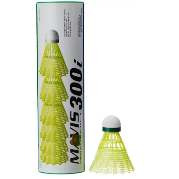 Yonex Mavis 300i Nylon Shuttlecock Yellow Colour