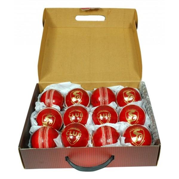 SG Club Red Cricket Ball 3 Ball set