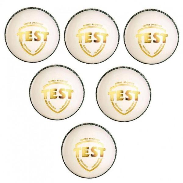 SG Test White Cricket Ball 6 Ball set