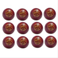 Aj Match Cricket Ball Set of 12 Ball Red...