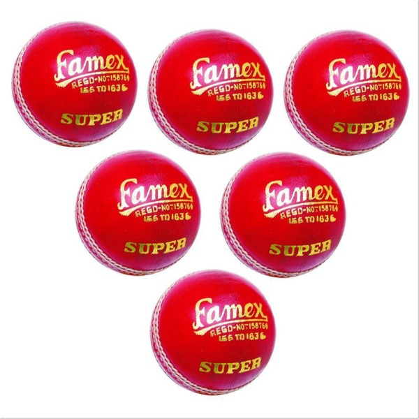 Khanna Famex Leather Cricket Ball 6 Ball...