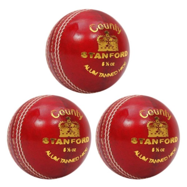 SF County Red Cricket Ball 3 Ball Set