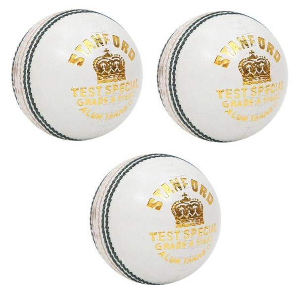 Stanford Test Special White Cricket Ball 3 Ball Set