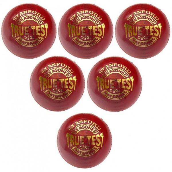 SF True Test Red Cricket Ball 6 Ball Set