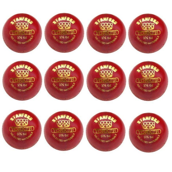 SF Yorker Cricket Ball 12 Ball Set