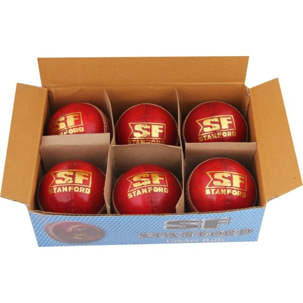 Stanford County Crown Cricket Ball 6 Ball Set