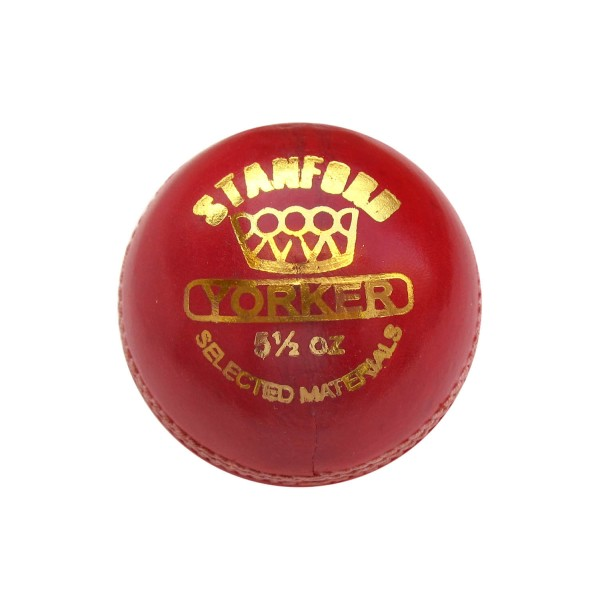 Stanford Yorker Red Cricket Ball 6 Ball ...
