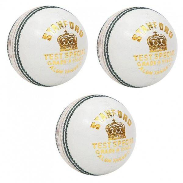 SF Test Special White Cricket Ball 3 Bal...