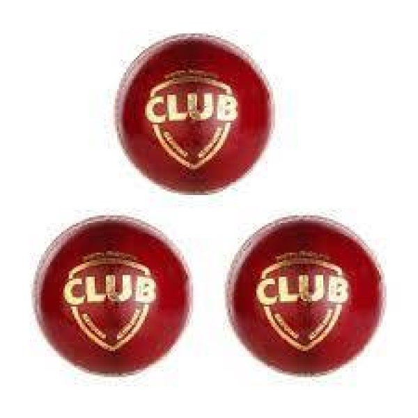 SG Club Red Cricket Ball 3 Ball set