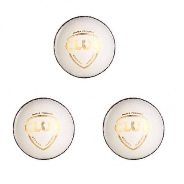 SG Club White Cricket Ball 3 Ball set