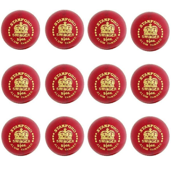 Stanford Bouncer Red Cricket Ball 12 Ball