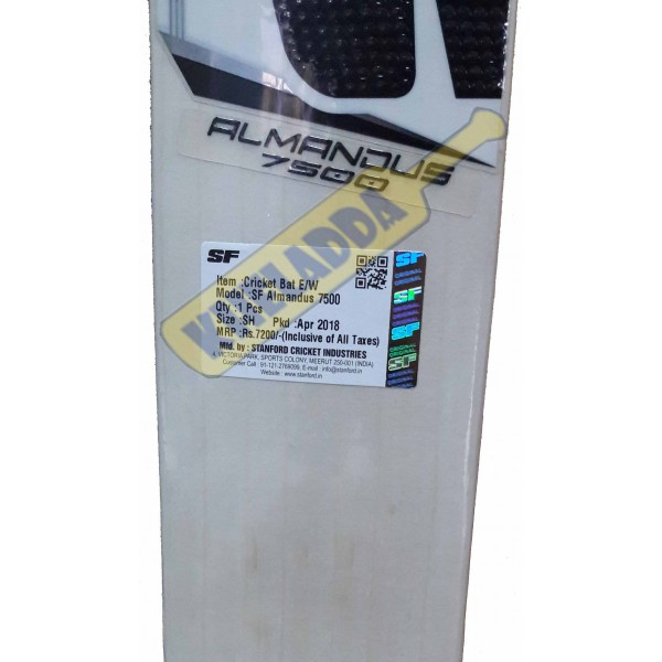 SF Almandus 10000 English Willow Cricket Bat