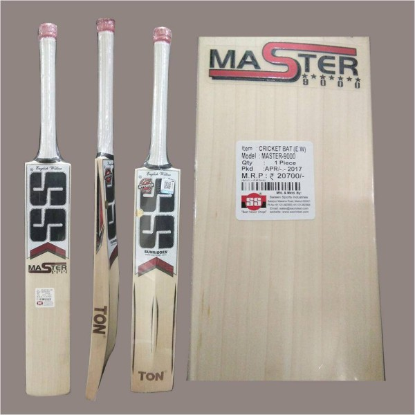 SS Master 9000 English Willow Cricket Ba...