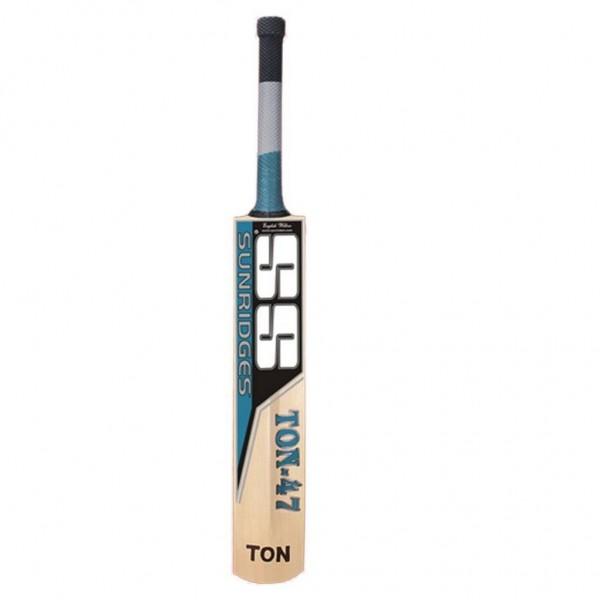 SS Ton 47 English Willow Cricket Bat Sta...