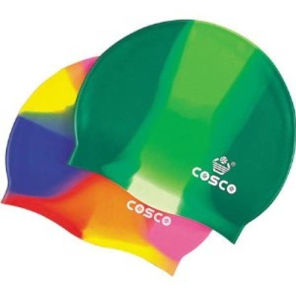 Cosco Silicone Multi Color Swimming Cap ...