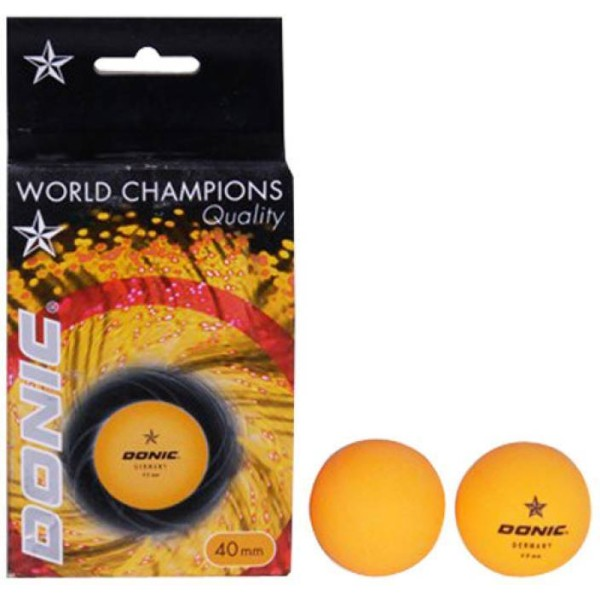 Donic 1 Star Table Tennis Ball Orange Se...