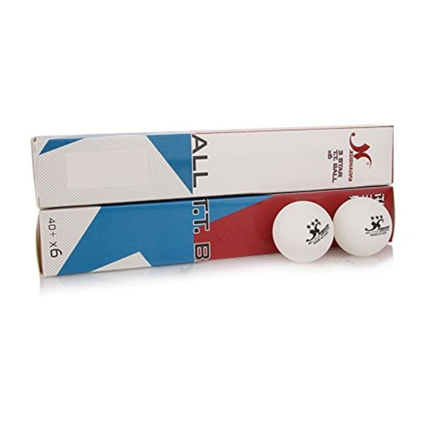 GKI Xushaofa Plastic Three Star Table Tennis Ball Set of 12 Balls