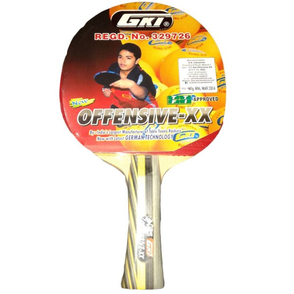 GKI Offensive XX Table Tennis Racquet