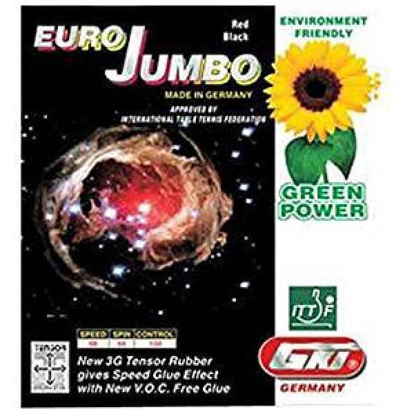 GKI Euro Jumbo Table Tennis Rubber Black