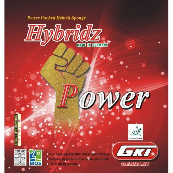 GKI Hybridz Power Table Tennis Rubber