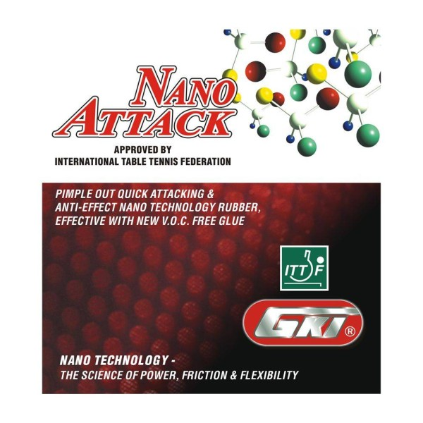 GKI Nano Attack Table Tennis Rubber