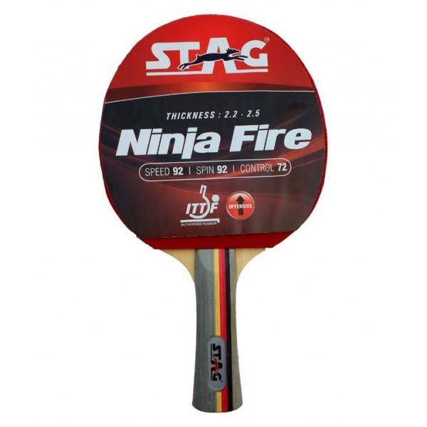 Stag Ninja Fire Table Tennis Racquet