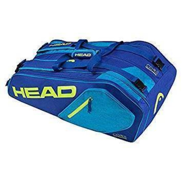 Head Core 6R Combi Tennis Kit Bag Blue a...